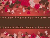 Rámu, tvořeného barevné podzimní listí. EPS 8