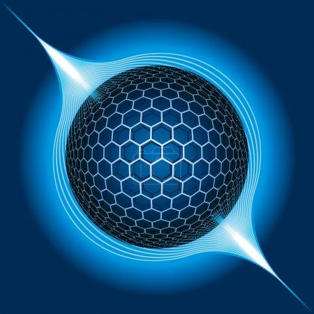 Illustration pour Fantasy Electric Sphere. Illustration vectorielle - image libre de droit