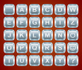 Alphabet keyboard buttons - vector illustration