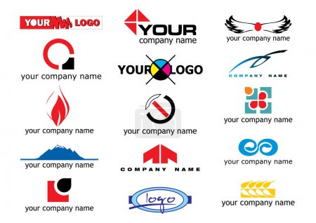 Illustration for Different logo elements - vector illustration - Royalty Free Image