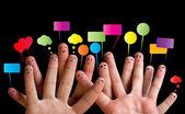 """Постер, картина, фотообои """"Счастливый группы палец смайлики 2"""""""