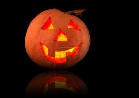 Funny shining pumpkin, halloween theme...