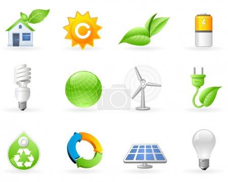 Ecology and Alternative Energy icon set