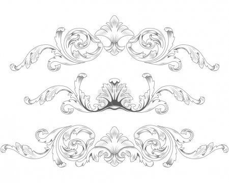 Illustration for Ornamental elements - Royalty Free Image
