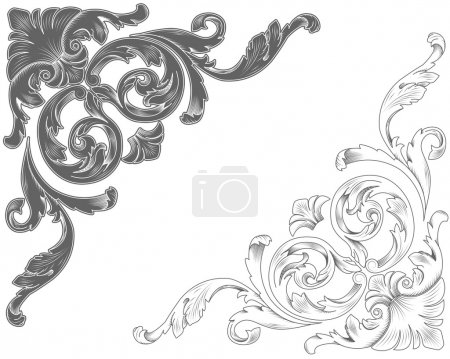 Illustration for Classic ornamental corners - Royalty Free Image