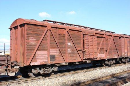 Cargo train shot