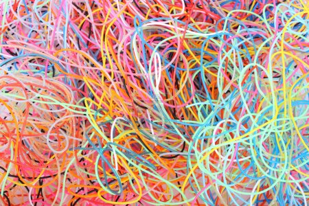 Photo for Colored wires entangled in the lump - Royalty Free Image
