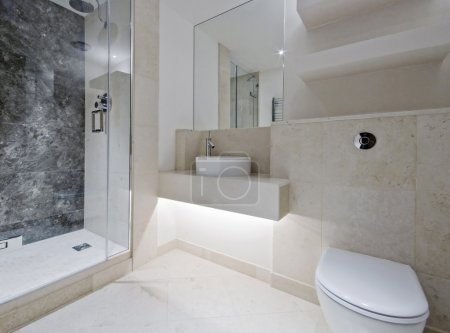 Luxury bathroom with marble