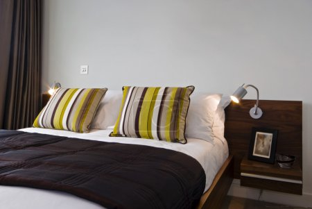 Luxury bed set up