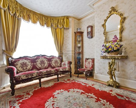 Lounge with antique furniture
