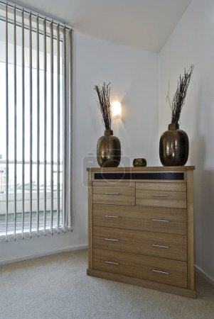 Chest of drawers with decoration