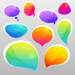 Colorful bubbles for speech. vector illustration...