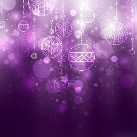 Illustration for Christmas background with baubles - Royalty Free Image