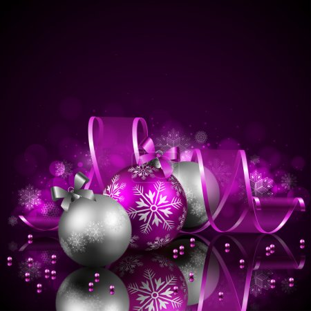 Photo for Christmas background with baubles - Royalty Free Image