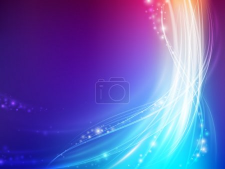Illustration for Abstract colorful glowing wave with spark - Royalty Free Image