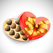 Heart shaped Valentine's box of chocolates