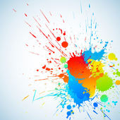 Colorful bright ink splashes with place for text Vector illustration