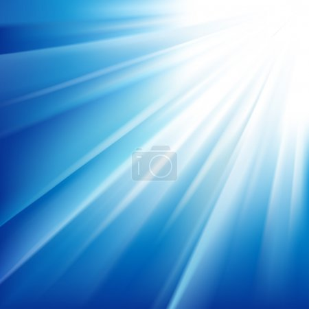Illustration for Sun on a blue sky. Vector illustration - Royalty Free Image
