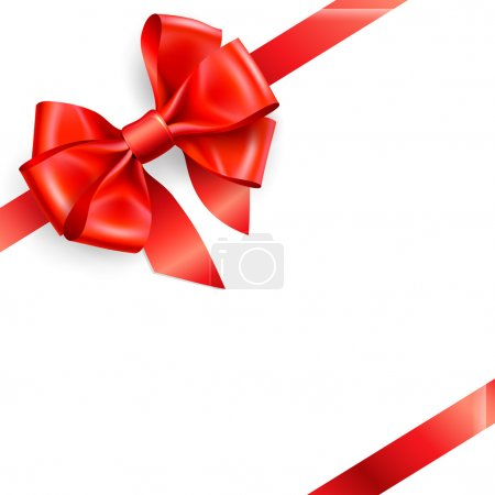 Illustration for Red bow isolated on white. Vector illustration - Royalty Free Image