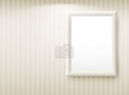 Illustration for 3d empty frame on the wall. Vintage background - Royalty Free Image