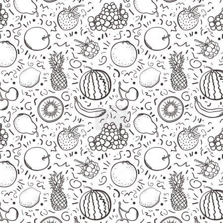 Illustration pour Fruits fond - image libre de droit