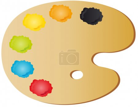 Illustration for Vectors illustration shows the painter's palette - Royalty Free Image