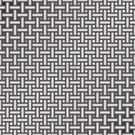 Illustration for Metal grid of wires or pipes. Vektor illustration - Royalty Free Image