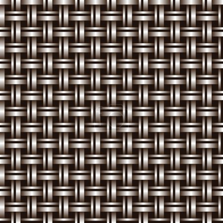 Illustration for Metal seamless bronze grid of wires or pipes. Vector illustration - Royalty Free Image
