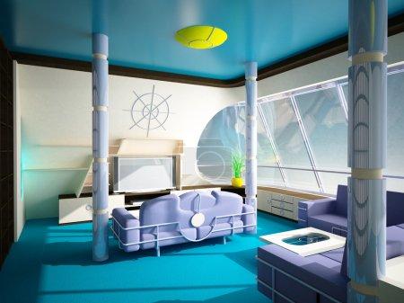 Marine interior in a modern style