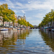 Amsterdam canals , sunny day in September...