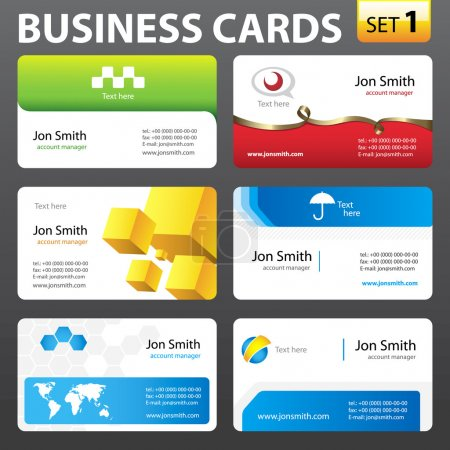 Illustration for Business card vector temolates. - Royalty Free Image