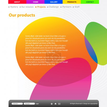 Illustration for Website title page design template. - Royalty Free Image