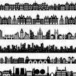 Various variants of houses on the white...