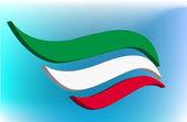 Italienische flagge abstrakt