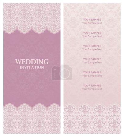 Illustration pour Invitation de mariage et ornement-fleurs fond - image libre de droit