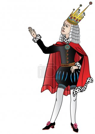 The isolated figure of the king which costs and sa...