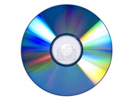 Foto de Un dvd aislado sobre fondo blanco. - Imagen libre de derechos