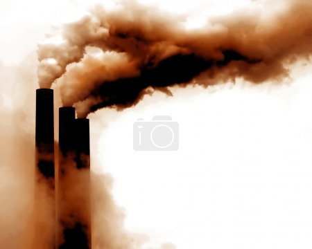 Photo for Scary Image of Power Plant emissions in america - Royalty Free Image
