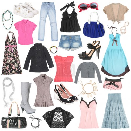 Photo for Different female clothes, shoes and accessories. #2 - Royalty Free Image