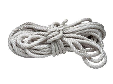 Photo pour Rouleau de corde isolé sur blanc - image libre de droit