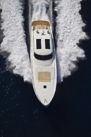 France, Cannes, luxury yacht Continental 80', aerial view