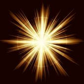 Square golden explosion of light Linear gradients no transparencies