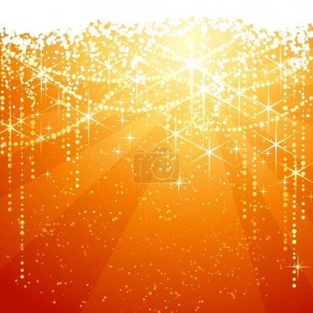 Photo pour Fond rouge doré avec des étoiles scintillantes pour les occasions festives. Grand comme Noël ou Neaw ans fond . - image libre de droit