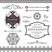 Set of ornate vector frames ornaments and dividers Perfect to embellish your designs invitations or announcements