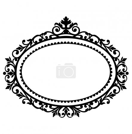 Illustration for Decorative black frame on the retro background with space for your text, full scalable vector graphic for easy editing and color change - Royalty Free Image