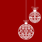 Hanging christmas balls silhouettes in retro style with ornaments full scalable vector illustration