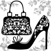 Fashion concept Bag and shoe