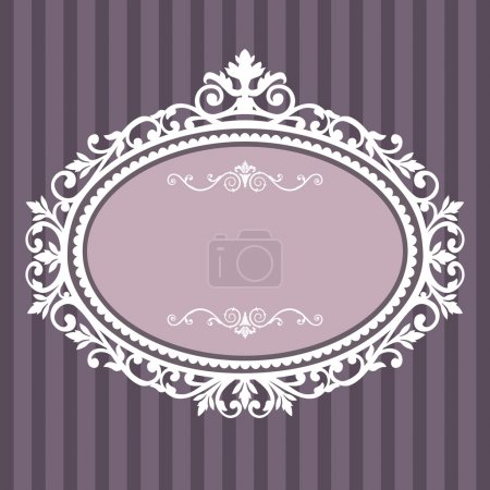 Photo for Decorative white frame on the retro background with space for your text, full scalable vector graphic for easy editing and color change - Royalty Free Image