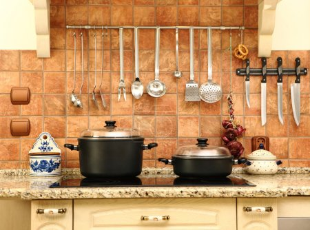 Photo for A picture of a beautiful new yet not modern kitchen, nice bright colours - Royalty Free Image