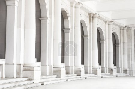 White columns